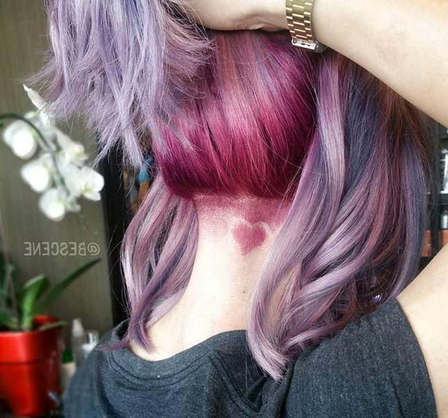 45 Undercut Hairstyles With Hair Tattoos For Women | Fashionisers Intended For Long Hairstyles Shaved Underneath (View 9 of 15)