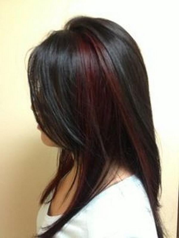 50 Stylish Highlighted Hairstyles For Black Hair 2017 Within Long Hairstyles Red Highlights (View 3 of 15)