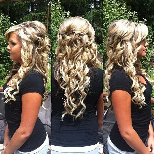 53 Best Wedding Half Up Half Down Hairstyles Images On Pinterest Throughout Long Hairstyles Up And Down (View 5 of 15)
