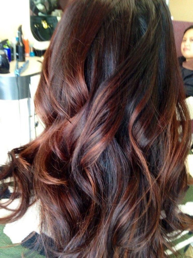 60 Brilliant Brown Hair With Red Highlights Regarding Long Hairstyles Red Highlights (View 4 of 15)