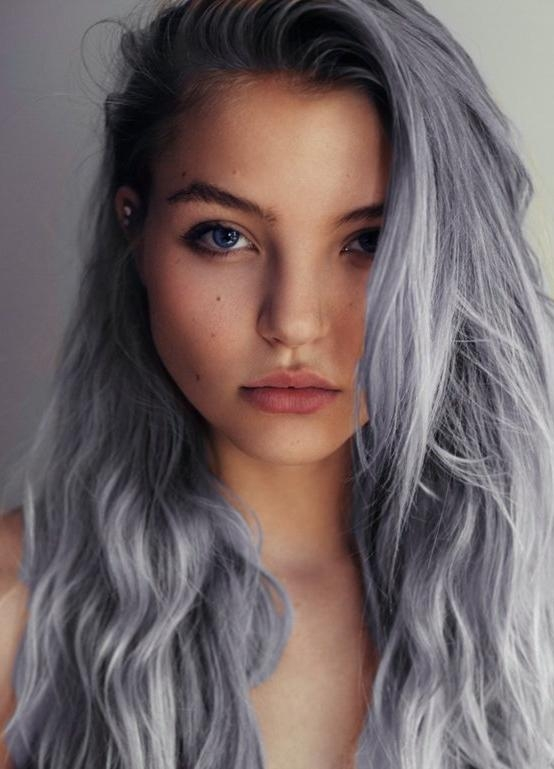 7 Amazing Hairstyles For Silver Grey Hair – Pretty Designs Pertaining To Long Hairstyles Grey Hair (View 8 of 15)