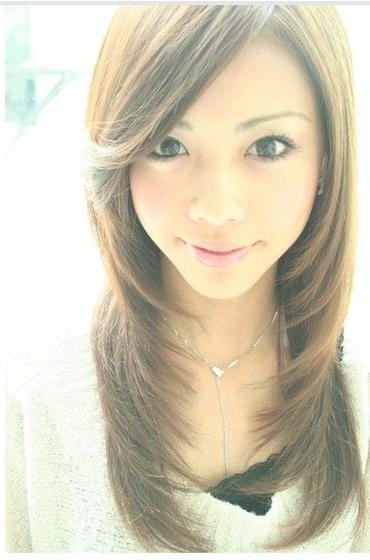 78 Best Asian Hairstyles Images On Pinterest | Hairstyles, Asian Pertaining To Long Layered Hairstyles Korean (View 5 of 15)