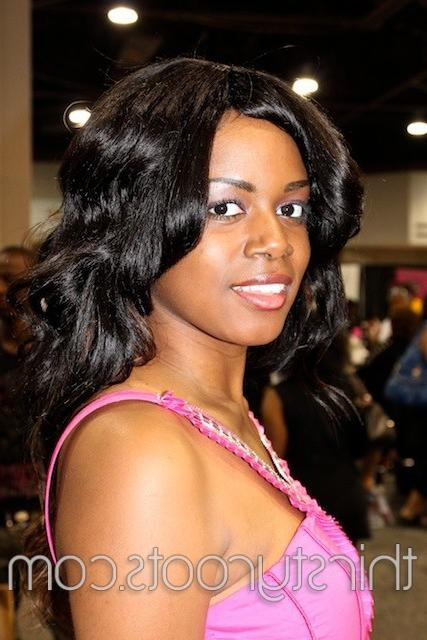 African American Long Hair Styles Pertaining To Long Hairstyles African American (View 8 of 15)