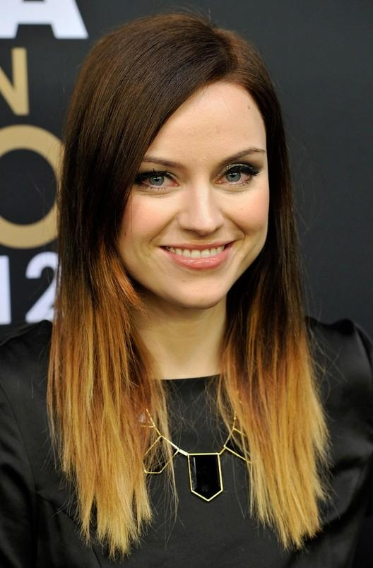 Amy Macdonald Trendy Dip Dye Ombre Hair | Styles Weekly Pertaining To Long Hairstyles Dip Dye (View 3 of 15)