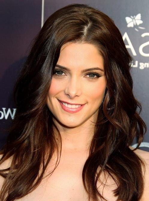 Ashley Greene Long Hairstyle: Deep Side Part – Pretty Designs Throughout Long Hairstyles With Side Part (View 5 of 15)