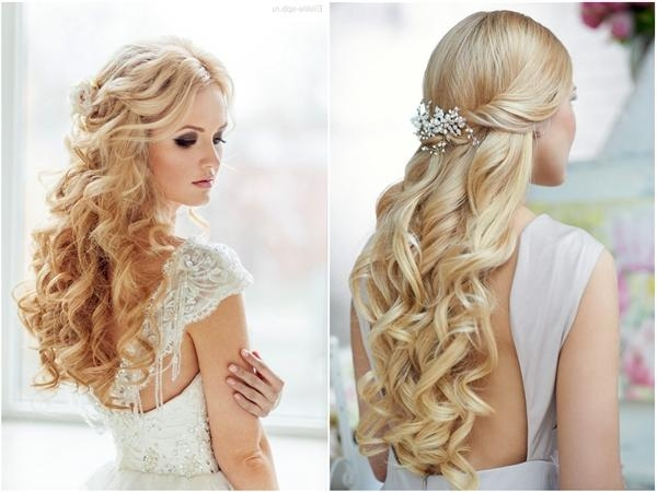 Photo Gallery of Long Hairstyles Down For Wedding (Viewing 8 of 15 ...