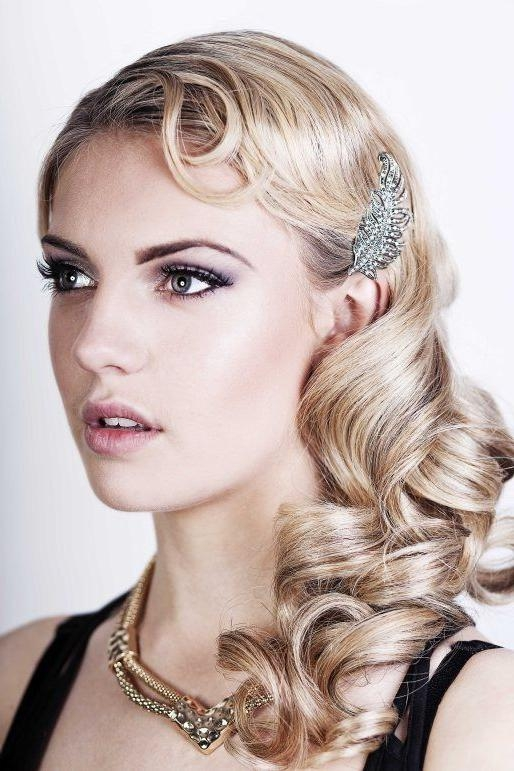 Beautiful 1920S Hairstyles For Long Curly Thick Hair | Cute Women With Regard To Long Hairstyles Of The 1920S (View 6 of 15)
