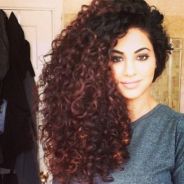 Beautiful Cute Hairstyles For Long Naturally Curly Hair Gallery With Regard To Long Hairstyles Naturally Curly Hair (View 2 of 15)