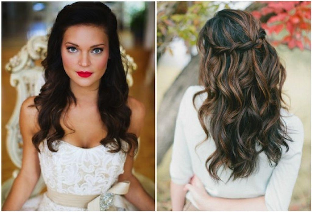 Half Up Half Down Wedding Hairstyles For Medium Length Hair: 15 Photo Of Long Hairstyles Wedding Guest