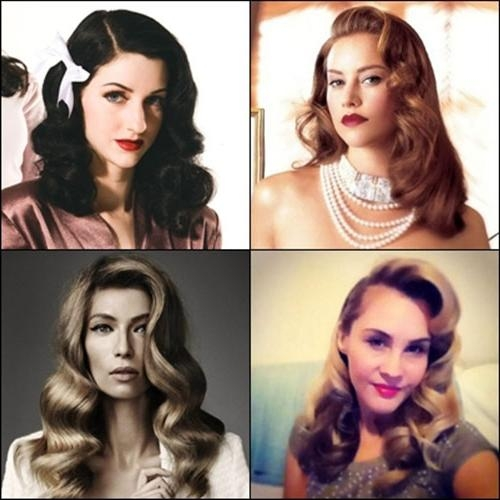 Beautiful Vintage Hairstyles For Long Hair – New Hairstyles Pertaining To Vintage Haircuts For Long Hair (View 4 of 15)