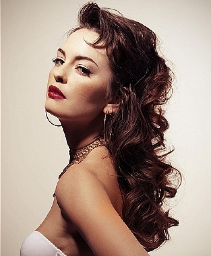 Beautiful Vintage Hairstyles For Long Hair Within Long Hair Vintage Hairstyles (View 5 of 15)