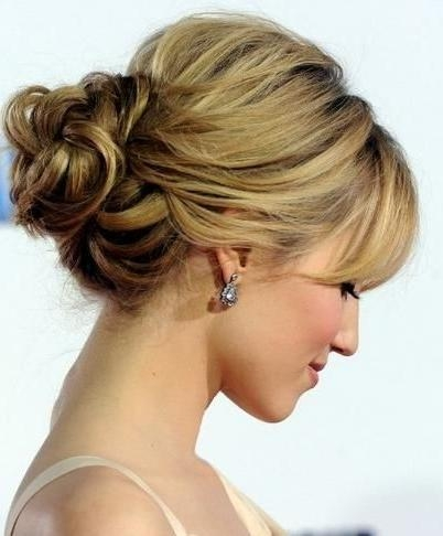 Best 10+ Bangs Updo Ideas On Pinterest | Side Fringe, Ashley Olsen Intended For Long Hairstyles Updos With Fringe (View 13 of 15)