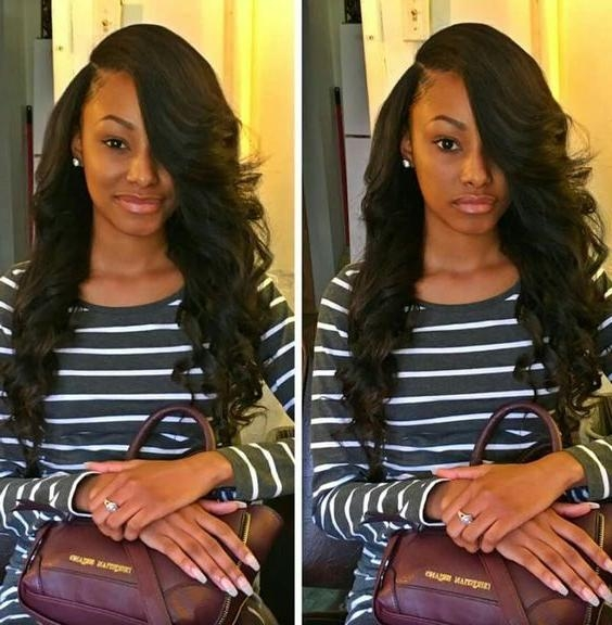 Photo Gallery Of Long Hairstyles Sew In Viewing 12 Of 15
