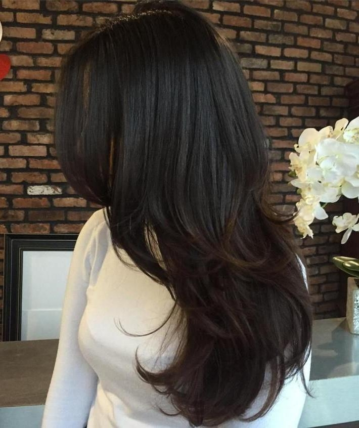 Best 10+ Long Brunette Hairstyles Ideas On Pinterest | Shoulder With Long Length Hairstyles (View 10 of 15)