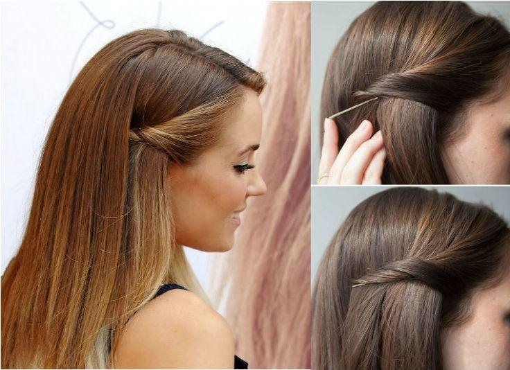Best 10+ Pulled Back Hairstyles Ideas On Pinterest | Bobby Pin Intended For Long Hairstyles Pinned Back (View 8 of 15)