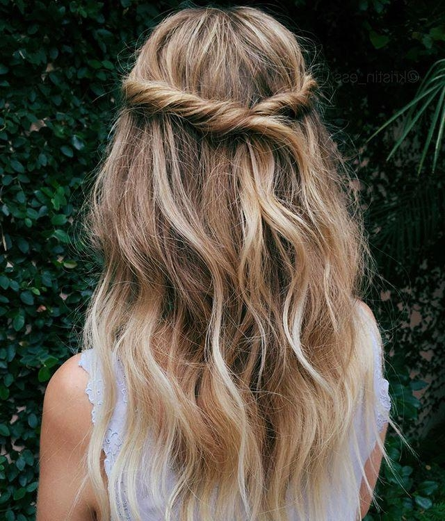 Best 10+ Pulled Back Hairstyles Ideas On Pinterest | Bobby Pin Throughout Long Hairstyles Pulled Up (View 4 of 15)