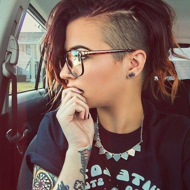 Best 10+ Shaved Side Hairstyles Ideas On Pinterest | Short Within Long Hairstyles Shaved Side (View 15 of 15)
