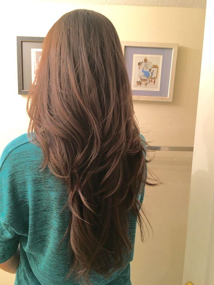 Best 10+ V Layer Cut Ideas On Pinterest | V Layers, Long Hair With Regard To Long Hairstyles V In Back (View 3 of 15)