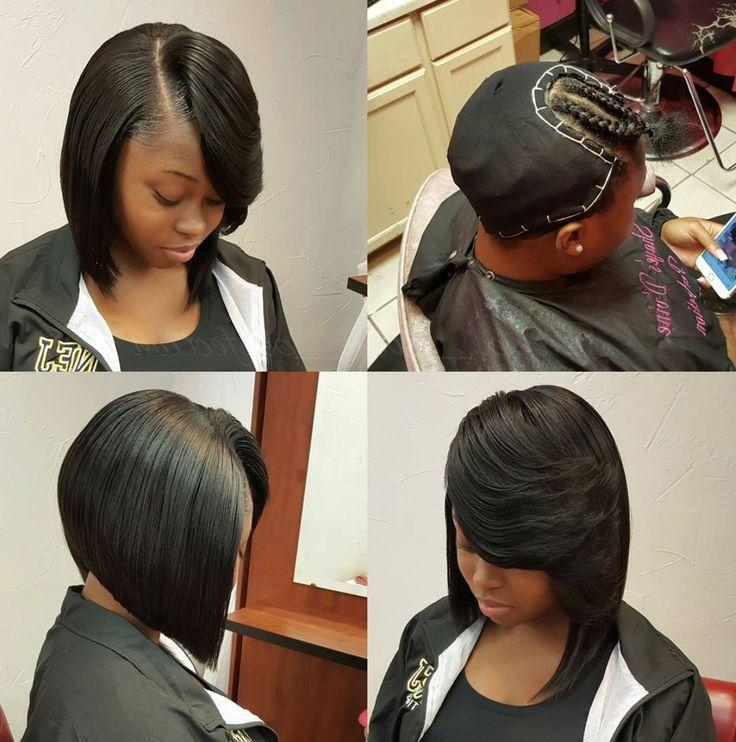 Best 10+ Weave Bob Hairstyles Ideas On Pinterest | Curly Bob Weave Regarding Long Bob Quick Hairstyles (View 4 of 15)