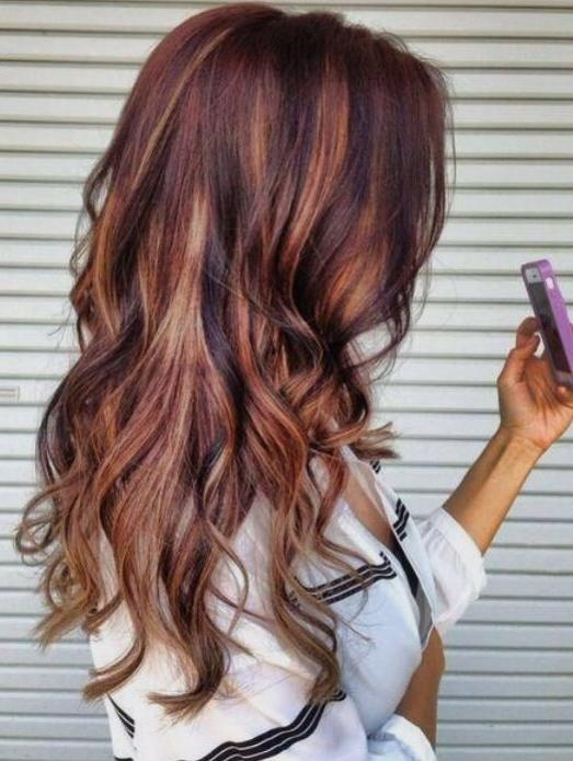 Best 20+ Auburn Hair Highlights Ideas On Pinterest | Auburn Hair In Long Hairstyles Highlights And Lowlights (View 5 of 15)