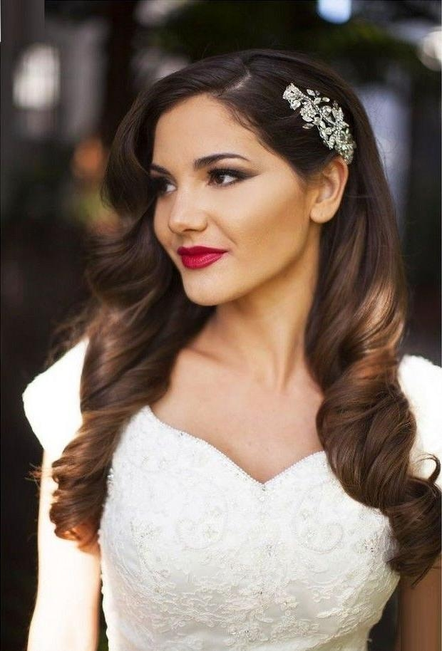 Best 20+ Bridal Hair Down Ideas On Pinterest | Bridesmaid Hair Pertaining To Long Hairstyles Down For Wedding (View 10 of 15)