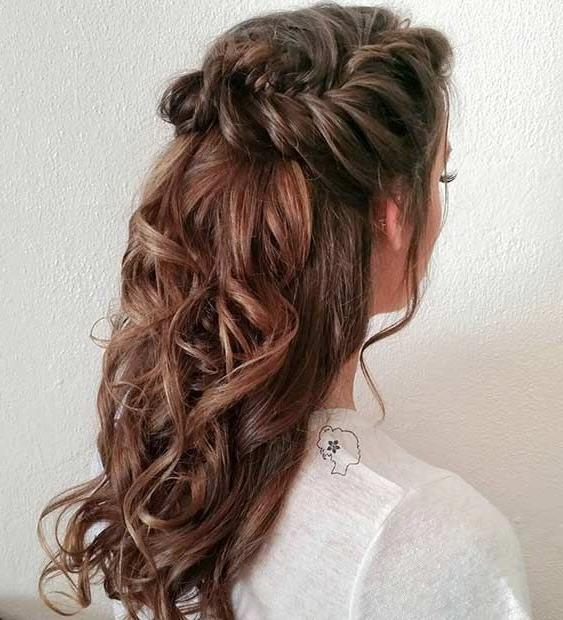 Best 20+ Half Updo Ideas On Pinterest | Bridal Hair Half Up, Half Pertaining To Long Hairstyles Half Up Curls (View 9 of 15)