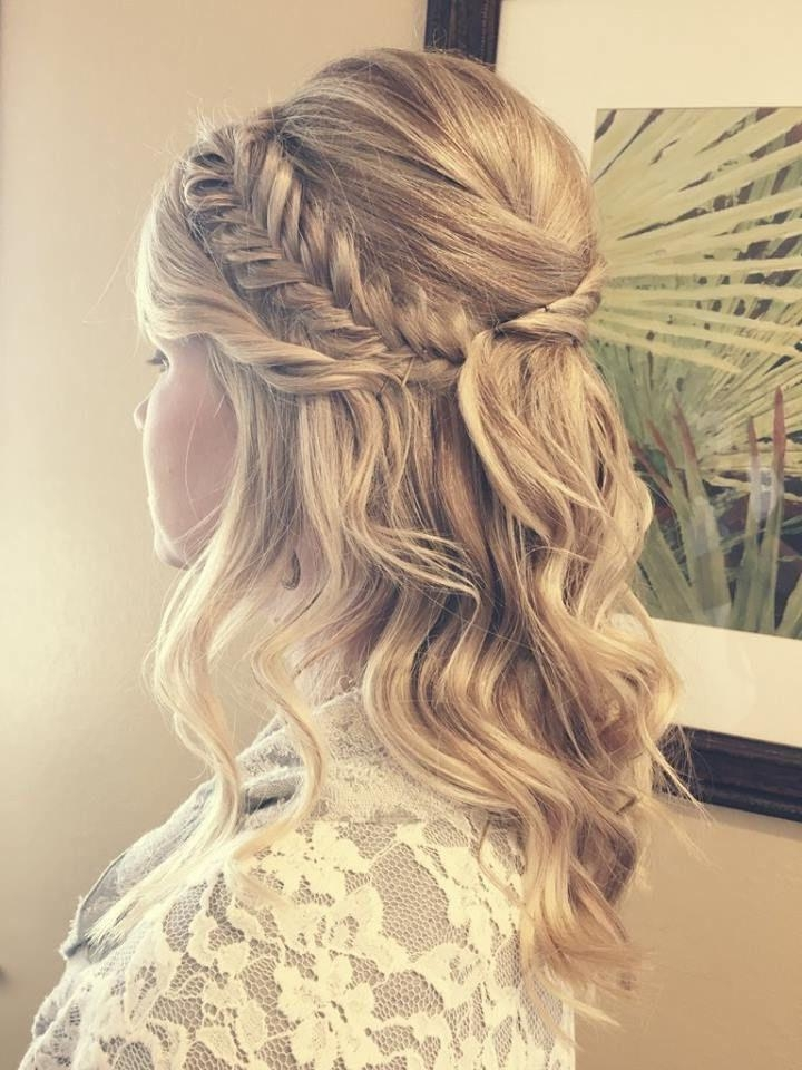 Best 20+ Half Updo Ideas On Pinterest | Bridal Hair Half Up, Half Throughout Long Hairstyles Half Up Curls (View 10 of 15)