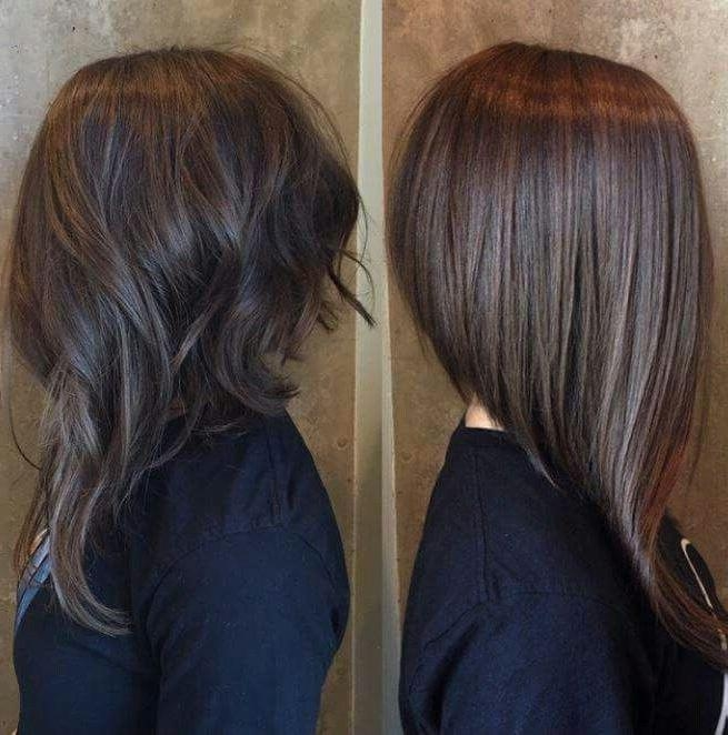 Best 20+ Long Angled Hair Ideas On Pinterest | Long Angled Bob With Hairstyles Long Front Short Back (View 6 of 15)