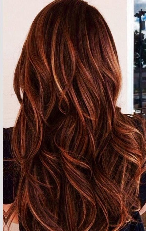Best 20+ Red Highlights Ideas On Pinterest | Cowlick, Red Hair Inside Long Hairstyles Red Highlights (View 5 of 15)