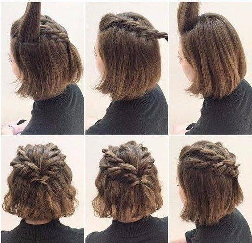 Best 20+ Short Hair Updo Ideas On Pinterest | Hair Updos Short Pertaining To Long Hairstyles Upstyles (View 7 of 15)