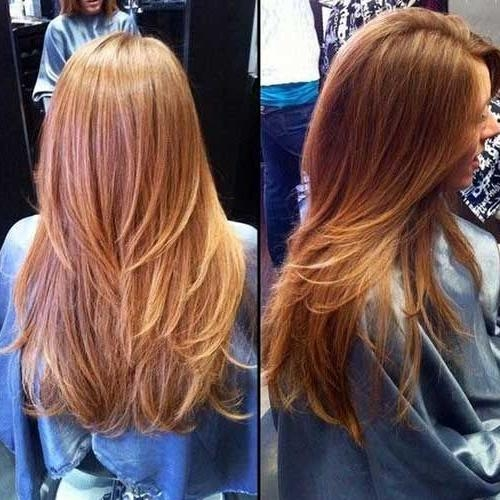 Featured Photo of Long Hairstyles Layered Straight