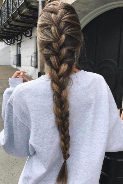 Best 20+ Thick Braid Ideas On Pinterest | Braids Tutorial Easy For Braids For Long Thick Hair (View 3 of 15)
