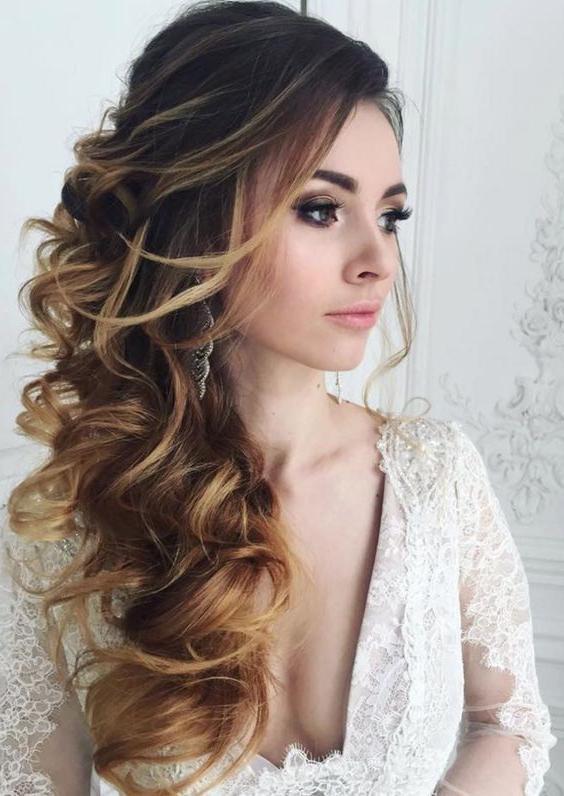 Best 20+ Wavy Wedding Hairstyles Ideas On Pinterest | Wedding Inside Long Hairstyles Elegant (View 3 of 15)