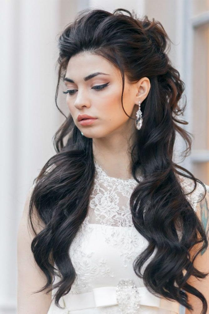 Best 20+ Wedding Hair Down Ideas On Pinterest | Wedding Hair With Long Hairstyles Hair Up (View 4 of 15)