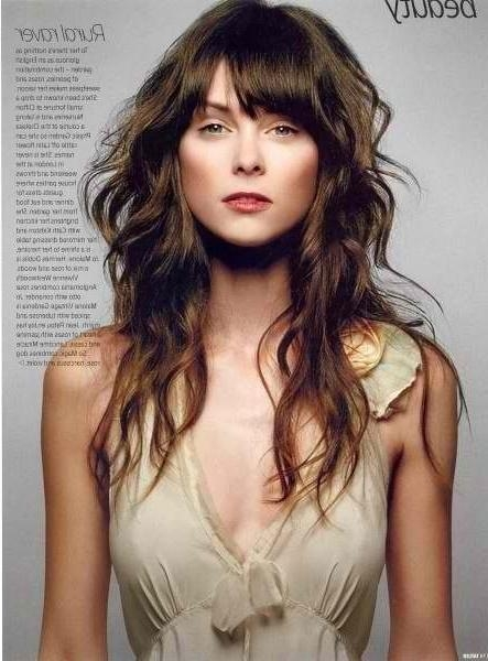 Best 25+ Bangs Long Hairstyles Ideas On Pinterest | Bangs Long With Regard To Long Hairstyles Updos With Fringe (View 4 of 15)