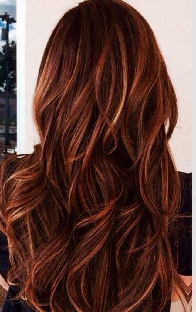Best 25+ Brown Hair Red Highlights Ideas On Pinterest | Red Brown Regarding Long Hairstyles Red Highlights (View 9 of 15)