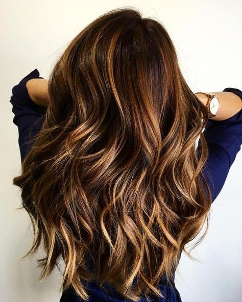 Best 25+ Brown Hair With Highlights Ideas On Pinterest | Brunette In Long Hairstyles Brown With Highlights (View 8 of 15)