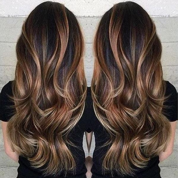 Best 25+ Brown Hair With Highlights Ideas On Pinterest | Brunette Inside Long Hairstyles Brown With Highlights (View 9 of 15)