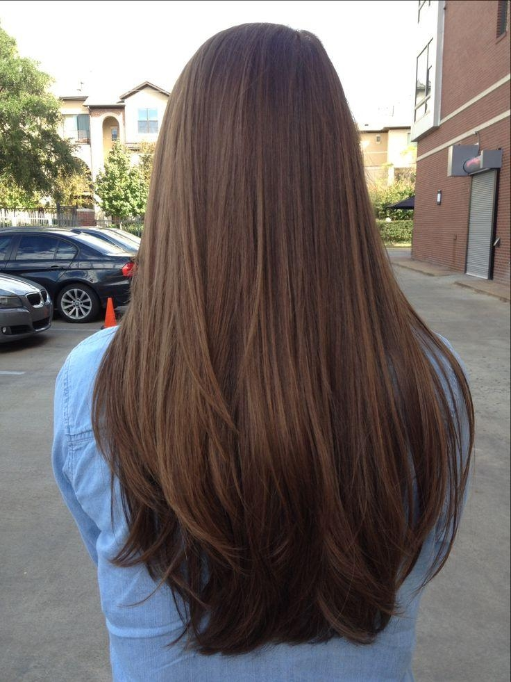 Best 25+ Brown Straight Hair Ideas On Pinterest | Summer 2016 Hair Inside Long Hair Colors And Cuts (View 13 of 15)