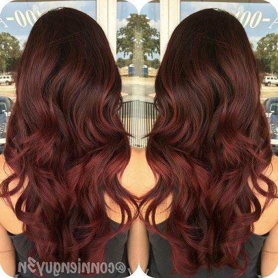 Best 25+ Brown To Red Ombre Ideas On Pinterest | Red Ombre, Brown Within Long Hairstyles Red Ombre (View 7 of 15)