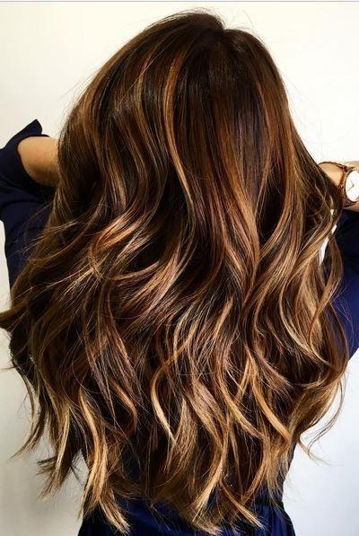 Best 25+ Brunette Hair Colors Ideas Only On Pinterest | Fall Hair Inside Long Hairstyles Dyed (View 5 of 15)