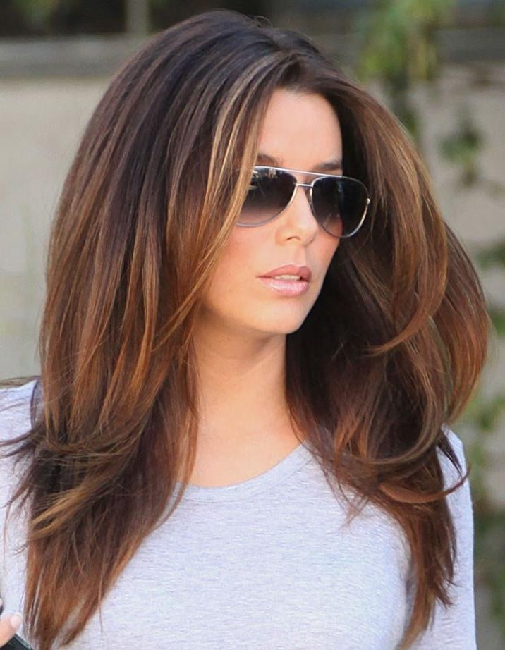 Best 25+ Brunette Long Layers Ideas On Pinterest | Long Length Pertaining To Long Hairstyles Brunette (View 3 of 15)