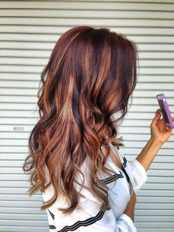 Best 25+ Brunette Red Highlights Ideas On Pinterest | Red Brunette Regarding Long Hairstyles Red Highlights (View 10 of 15)