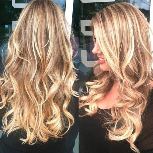 Photo Gallery of Long Hairstyles Highlights And Lowlights (Viewing ...