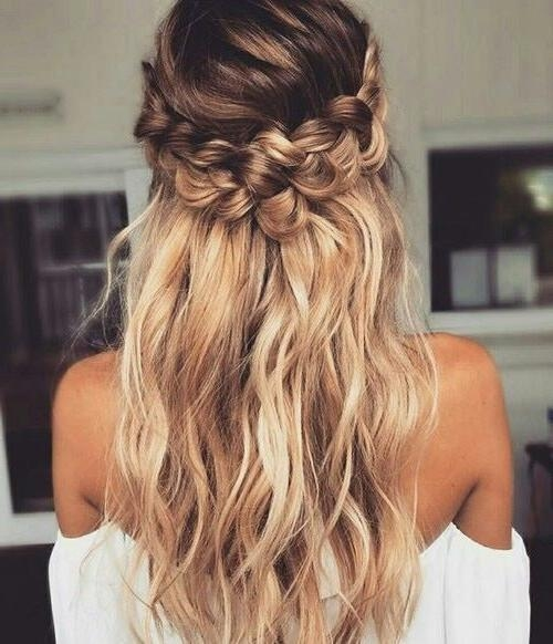 Best 25+ Curly Braided Hairstyles Ideas On Pinterest | Prom Hair Pertaining To Long Curly Braided Hairstyles (View 3 of 15)