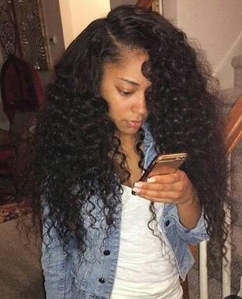 Best 25+ Curly Sew In Ideas On Pinterest | Wavy Weave, Beautiful With Long Virgin Hairstyles (View 7 of 15)