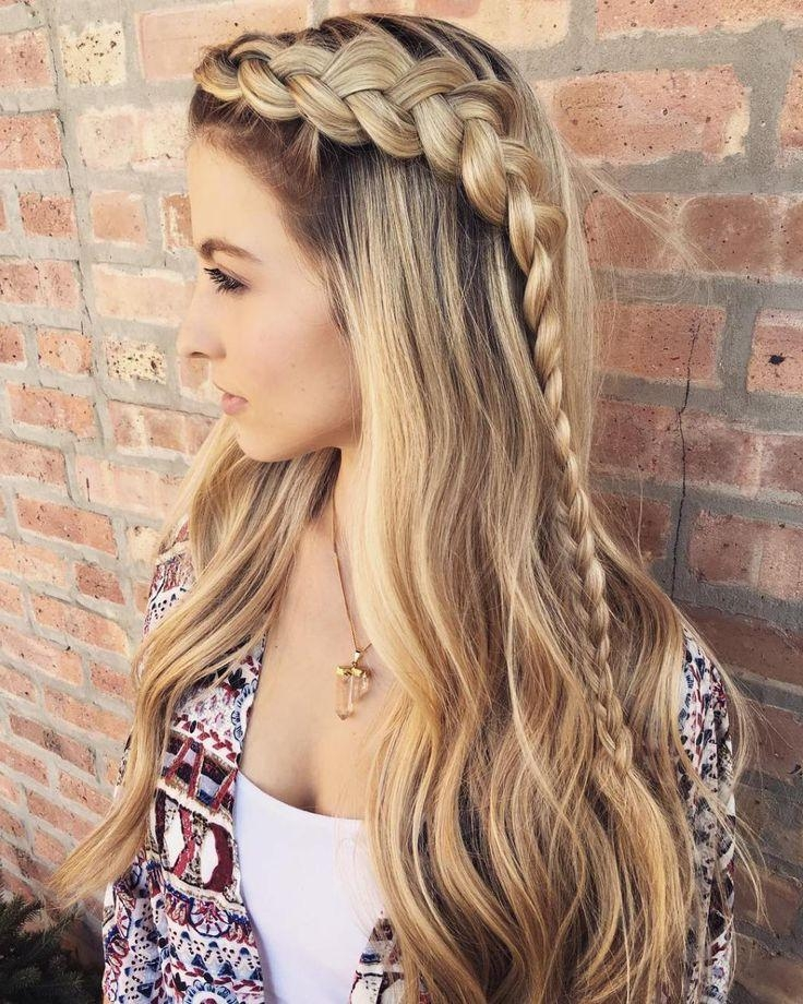 Best 25+ Cute Hairstyles With Braids Ideas On Pinterest | Cute Regarding Long Hairstyles Unique (View 8 of 15)