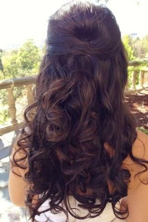 Best 25+ Hair Pinned Back Ideas On Pinterest | Pinning Back Bangs Regarding Long Hairstyles Pinned Back (View 9 of 15)