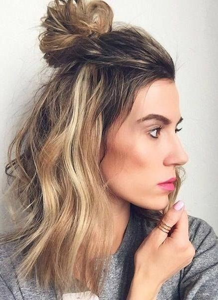 Best 25+ Half Top Knot Ideas On Pinterest | Half Up Bun, Half Bun With Long Hairstyles Vogue (View 6 of 15)