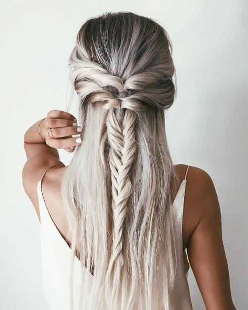 Best 25+ Half Up Half Down Ideas On Pinterest | Half Up Half Down Within Long Hairstyles Down Straight (View 6 of 15)